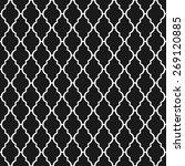 black and white lattice ... | Shutterstock .eps vector #269120885