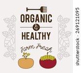 organic food design over white... | Shutterstock .eps vector #269121095