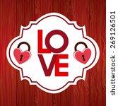 love card design  vector... | Shutterstock .eps vector #269126501