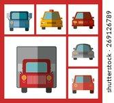 transportation design over red... | Shutterstock .eps vector #269126789
