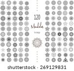 ornament round set with mandala.... | Shutterstock .eps vector #269129831