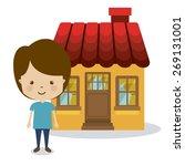 family design over white... | Shutterstock .eps vector #269131001