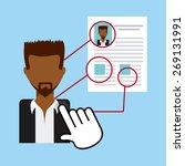 human resources design  vector... | Shutterstock .eps vector #269131991