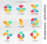 set different abstract logos... | Shutterstock .eps vector #269132021