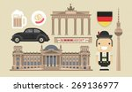 flat modern vector berlin  the... | Shutterstock .eps vector #269136977