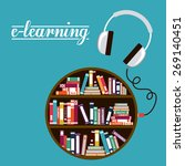 e learning design over blue... | Shutterstock .eps vector #269140451