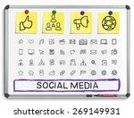 social media hand drawing line... | Shutterstock .eps vector #269149931