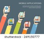 mobile application concept.... | Shutterstock .eps vector #269150777