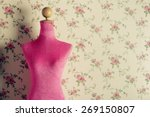 Pink Mannequin With Flowers...