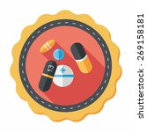 pills flat icon with long... | Shutterstock .eps vector #269158181