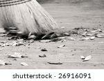 Old Fashioned Straw Broom...