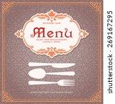 restaurant menu design vintage... | Shutterstock .eps vector #269167295