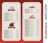 colored menu design with text... | Shutterstock .eps vector #269172254