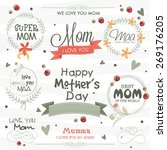 stylish typographic collection  ... | Shutterstock .eps vector #269176205