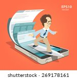 fast speed mobile internet... | Shutterstock .eps vector #269178161