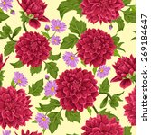 seamless wallpaper pattern with ... | Shutterstock .eps vector #269184647