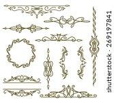 monogram design elements ... | Shutterstock .eps vector #269197841