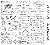 doodles decor element set... | Shutterstock .eps vector #269199185