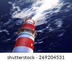 3d rendering of a lighthouse | Shutterstock . vector #269204531