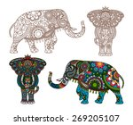vector decorated indian... | Shutterstock .eps vector #269205107