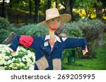 Smiling Scarecrow In A...