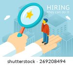 choosing person for hiring. job ... | Shutterstock .eps vector #269208494
