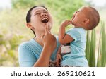 we're laughing. | Shutterstock . vector #269210621