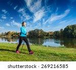 nordic walking adventure and...   Shutterstock . vector #269216585