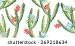 tropical seamless pattern.... | Shutterstock .eps vector #269218634