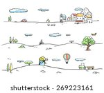 vector illustration of rural... | Shutterstock .eps vector #269223161