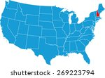 new hampshire map | Shutterstock .eps vector #269223794