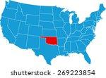 oklahoma map | Shutterstock .eps vector #269223854