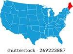 maine map | Shutterstock .eps vector #269223887