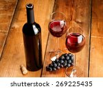 Red Wine Bottle With Two...
