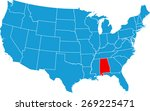 alabama map | Shutterstock .eps vector #269225471