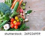 different types of fresh... | Shutterstock . vector #269226959