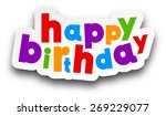 white happy birthday sign over... | Shutterstock .eps vector #269229077