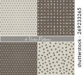 set of four polka dot patterns | Shutterstock .eps vector #269233265