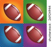 retro colored footballs | Shutterstock .eps vector #26924944