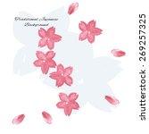 sakura cherry blossom... | Shutterstock .eps vector #269257325