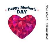 digitally generated happy... | Shutterstock .eps vector #269257937