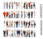 teamwork achievement team... | Shutterstock . vector #269262071