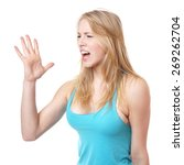 side view of furious angry... | Shutterstock . vector #269262704