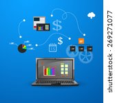 vector illustration of teamwork ... | Shutterstock .eps vector #269271077