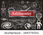 doodles about astronomy on...   Shutterstock .eps vector #269274101