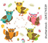 owlet baby. cartoon owl... | Shutterstock .eps vector #269274539
