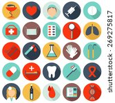 set of flat medical icons | Shutterstock .eps vector #269275817