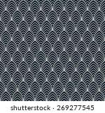 seamless monochrome pattern of... | Shutterstock .eps vector #269277545