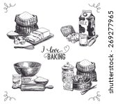 vector hand drawn set bakery... | Shutterstock .eps vector #269277965
