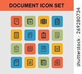 document icons | Shutterstock .eps vector #269280734